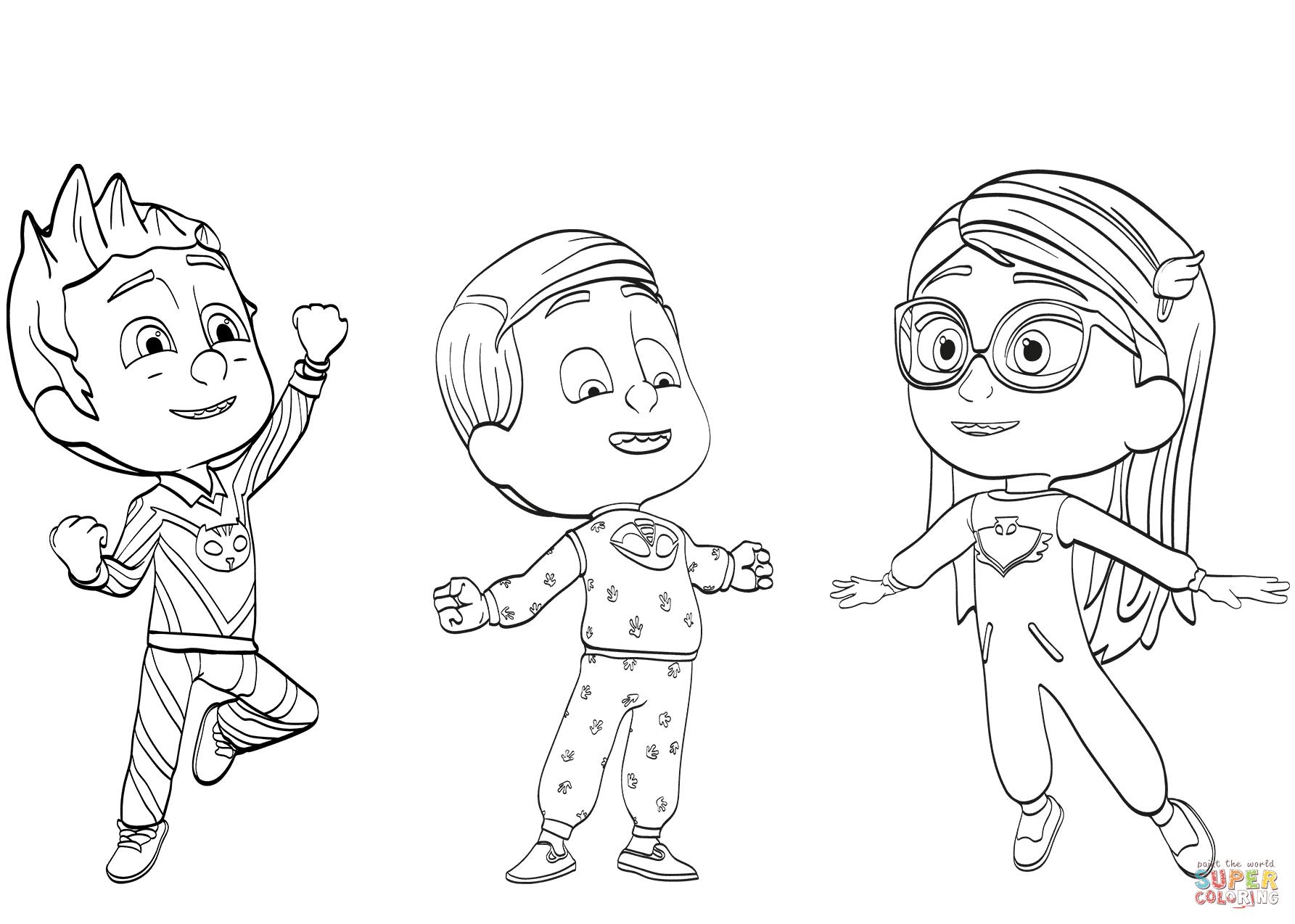 Pj Masks Pajama Heroes Coloring Page | Free Printable Coloring Pages - Free Printable Pajama Coloring Pages