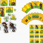 Plants Vs Zombies: Free Printable Cupcake Toppers And Wrappers. | Oh   Free Printable Minecraft Cupcake Toppers And Wrappers