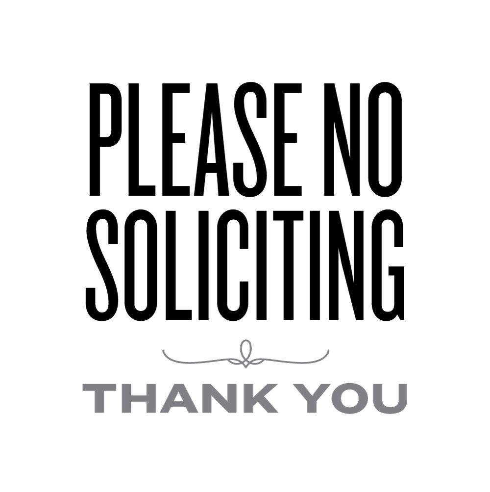 Please No Soliciting   Lemon Squeezy   Printables & Fonts - Free Printable No Soliciting Sign