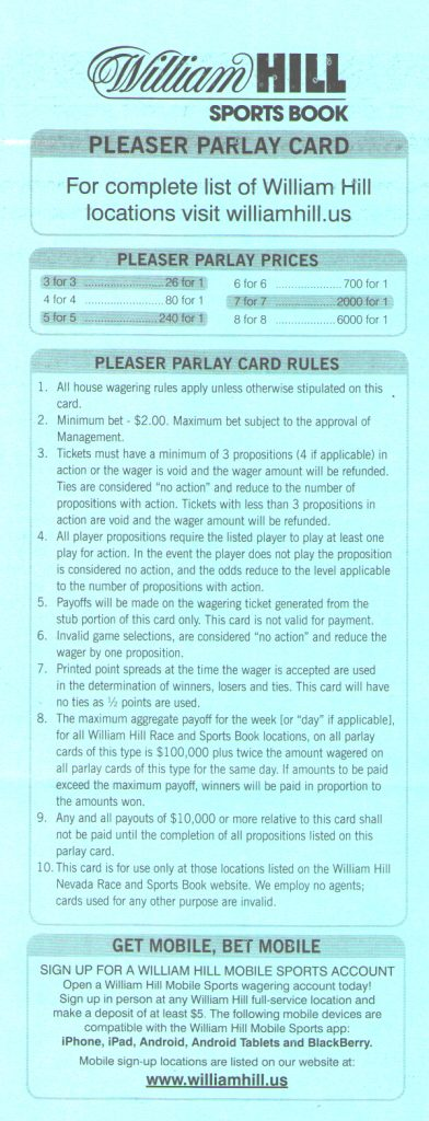 picture relating to Free Printable Football Parlay Cards identified as Pleaser Bets Within just The Nfl - Free of charge Printable Parlay Playing cards Absolutely free