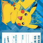 Pokemon Coloring Pages: Birthday Party Invitation Free And Printable   Free Printable Pokemon Birthday Invitations