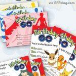 Pokémon Go: Birthday Go Free Printable Invitations   Free Printable Pokemon Birthday Invitations