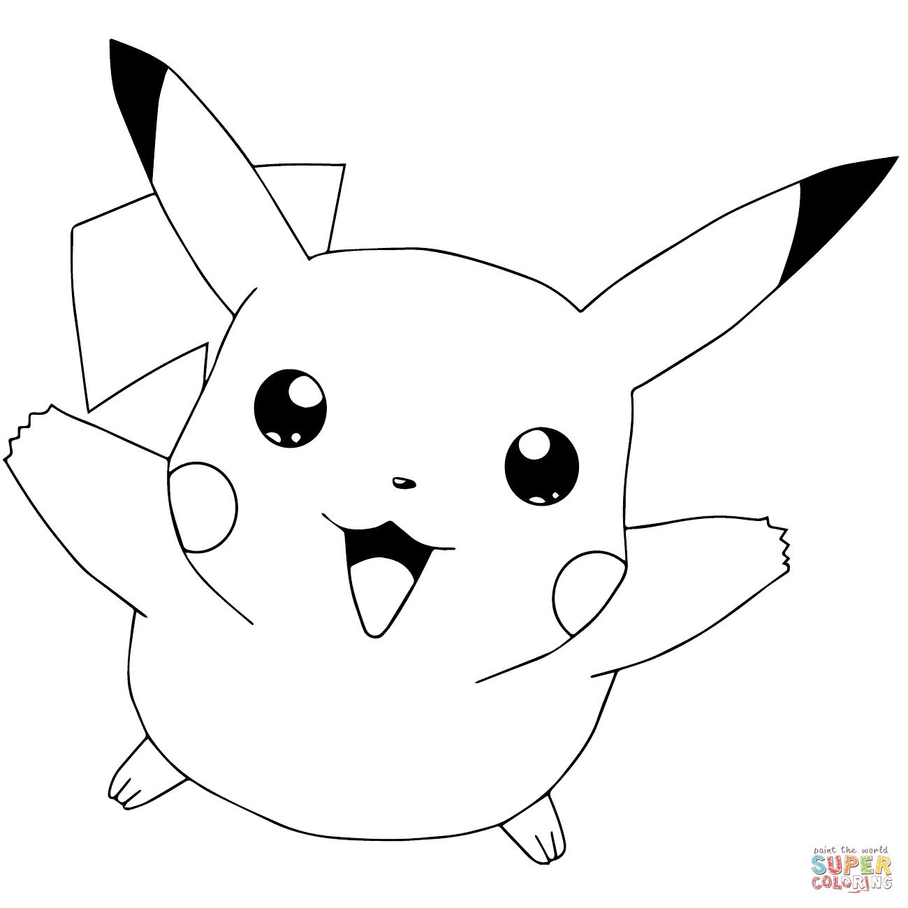 Pokémon Go Pikachu Flying Coloring Page | Free Printable Coloring Pages - Free Printable Coloring Pages Pokemon Black White
