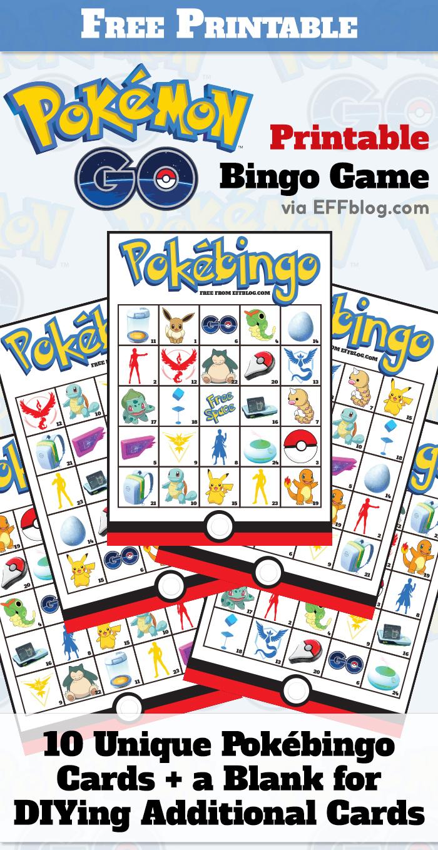 Pokémon Go: Pokébingo Free Printable Bingo Game - Free Printable Pokemon Pictures