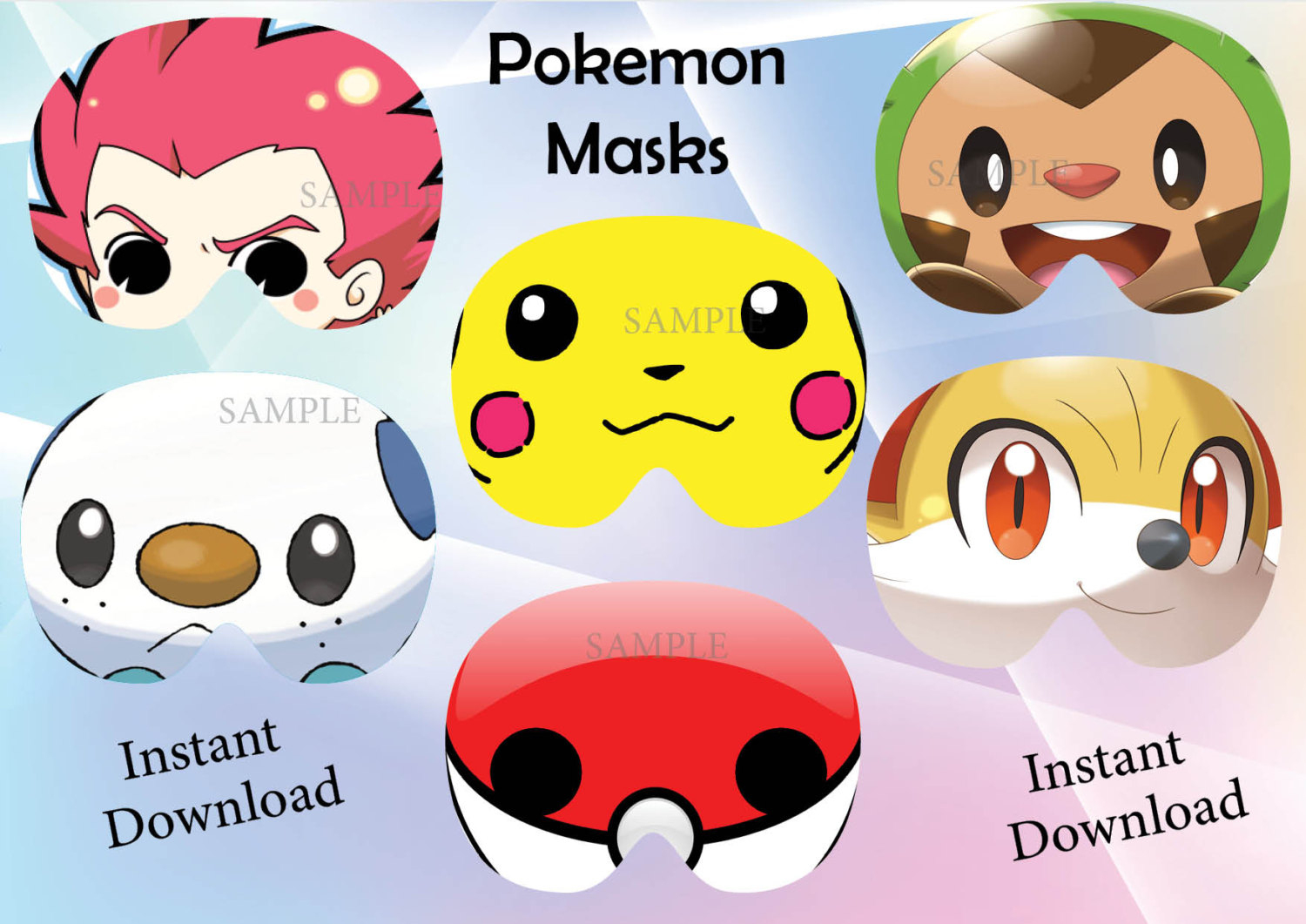 Pokemon Mask Related Keywords & Suggestions - Pokemon Mask Long Tail - Free Printable Pokemon Masks