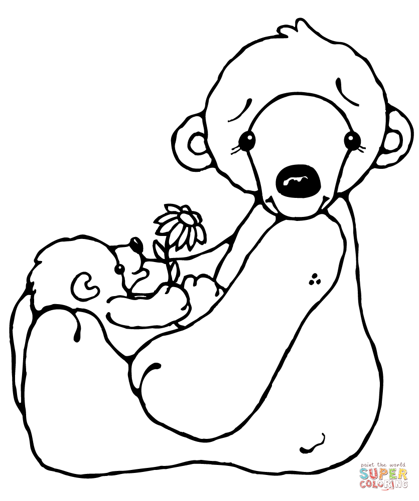 Polar Bear And Baby Coloring Page | Free Printable Coloring Pages - Polar Bear Printable Pictures Free