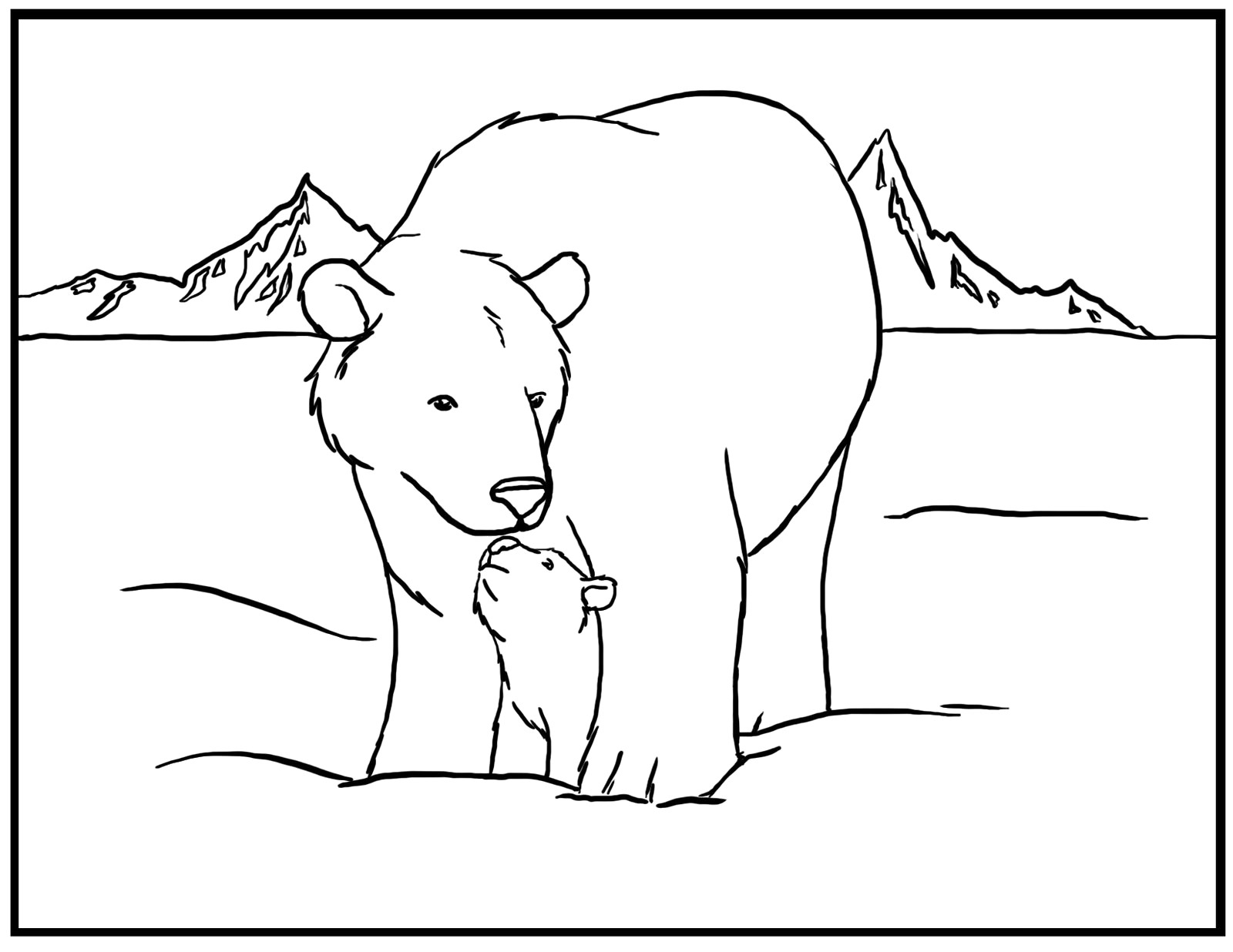 Polar Bear Coloring Pages Free | Diywordpress - Polar Bear Printable Pictures Free