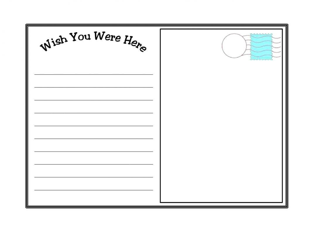 Postcard Template Ks2 - Free Blank Printable Postcards
