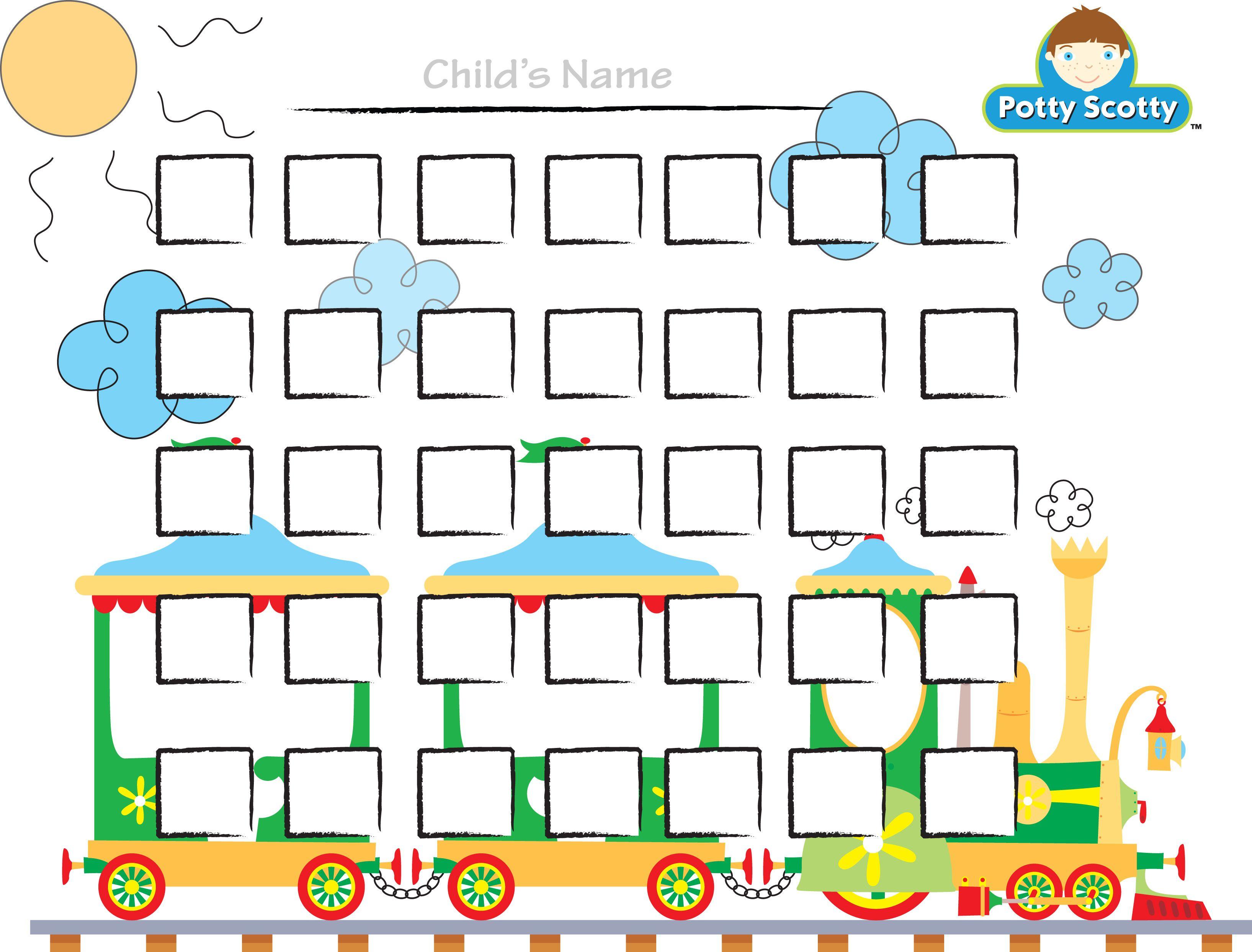 Potty Training Choo Choo Chart | Printables, Freebies, Diy | Potty - Free Printable Potty Charts