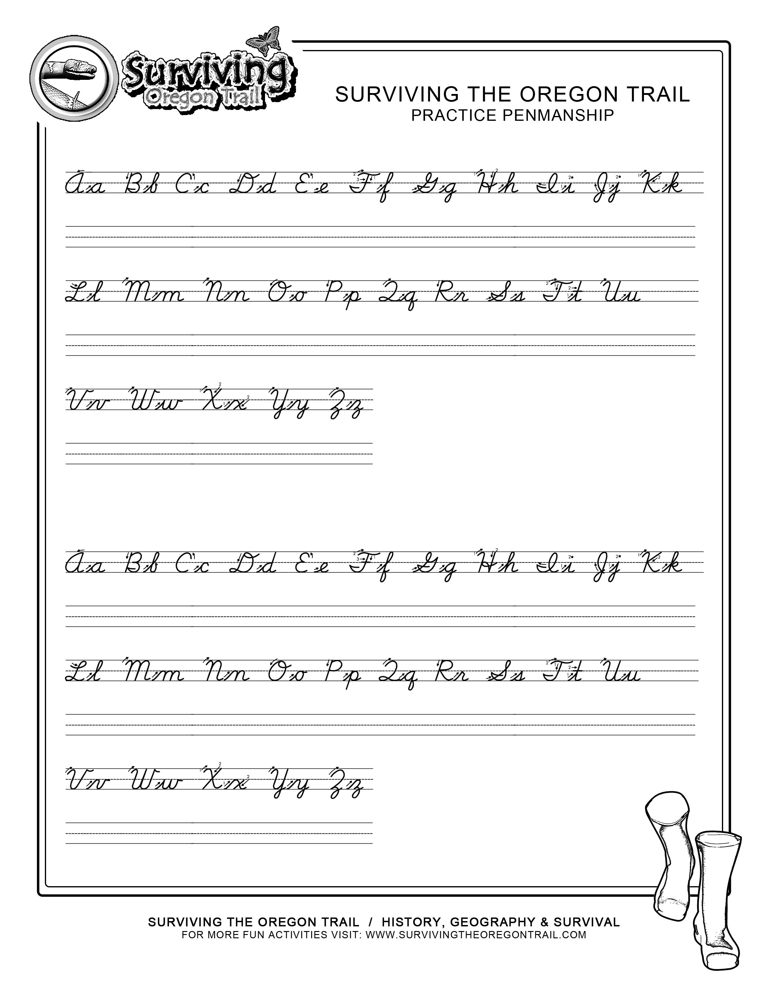 Practice Penmanship – Free Abc's Printable Cursive Writing Worksheet - Free Printable Cursive Practice
