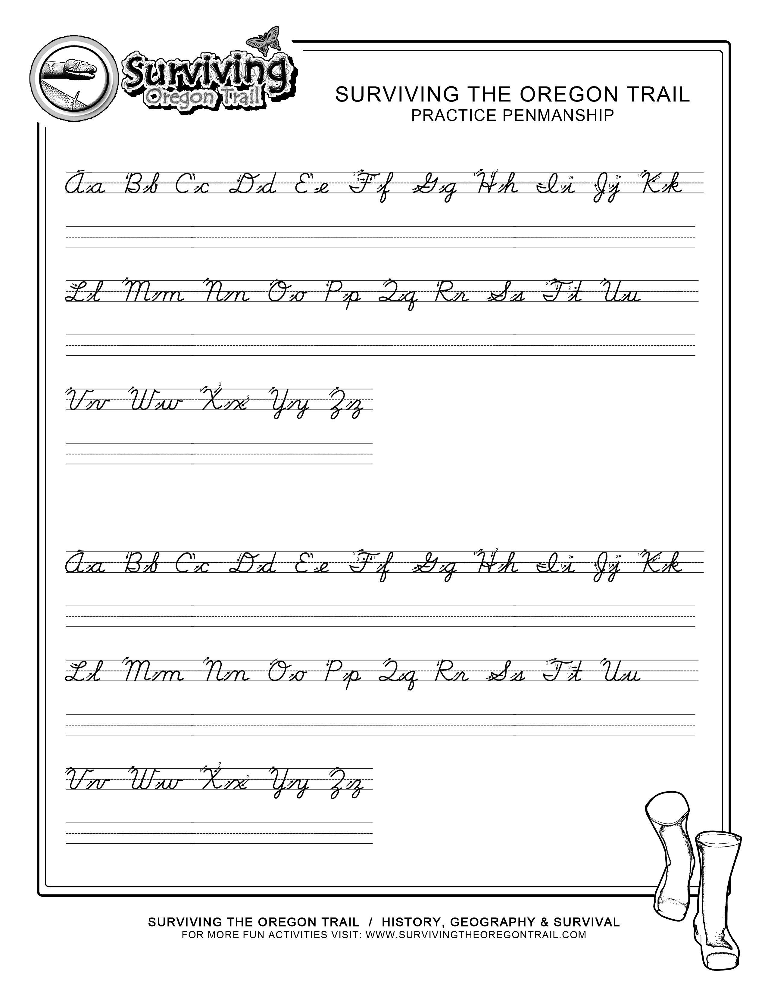 Practice Penmanship – Free Abc's Printable Cursive Writing Worksheet - Free Printable Script Writing Worksheets