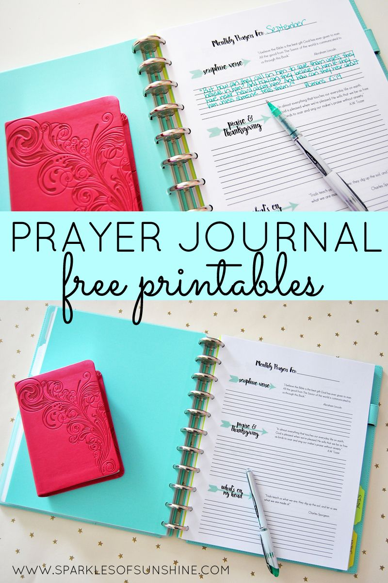 Prayer Journal Free Printables | Top Pins From Top Bloggers - Free Printable Prayer Journal