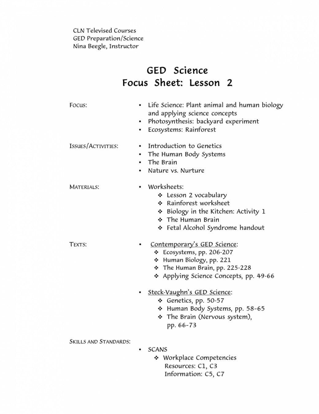 Pre Ged Math Worksheets   Lostranquillos - Free Printable Ged Practice Test