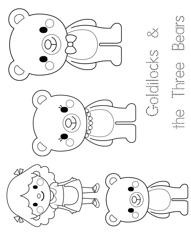 Free Printable Goldilocks And The Three Bears Story