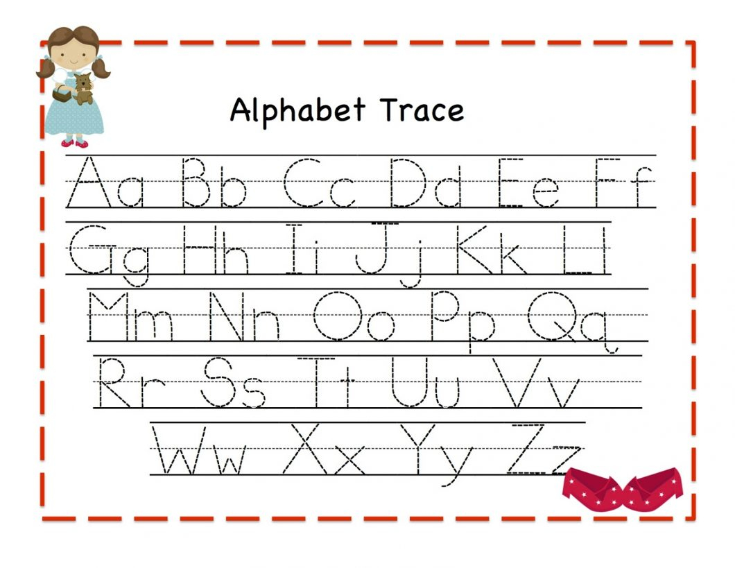 Preschool Printing Worksheets – With Number Also Handwriting - Free Printable Tracing Alphabet Worksheets