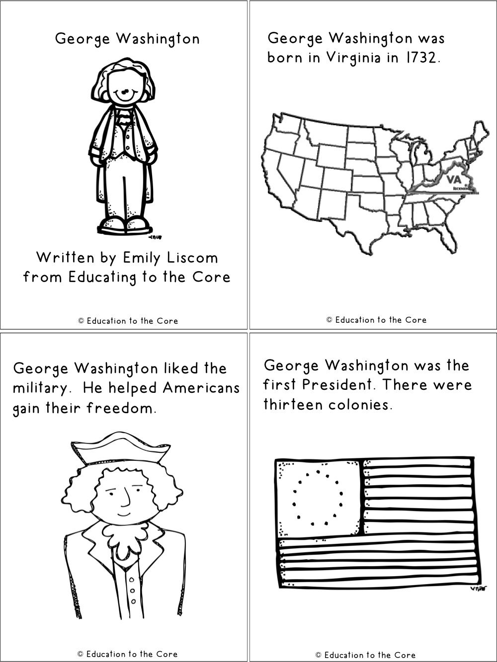 President's Day Pop-Up Books | Top Teachers Smorgasboard - Free Printable George Washington Worksheets