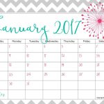 Pretty Printable Calendar 2017   Printable Calendar & Birthday Cards   Free Cute Printable Planner 2017