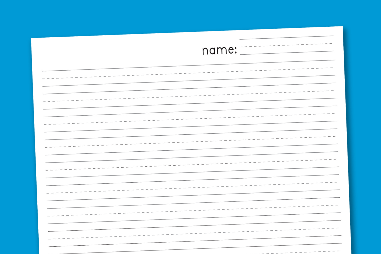 Primary Handwriting Paper - Paging Supermom - Free Printable Lined Writing Paper