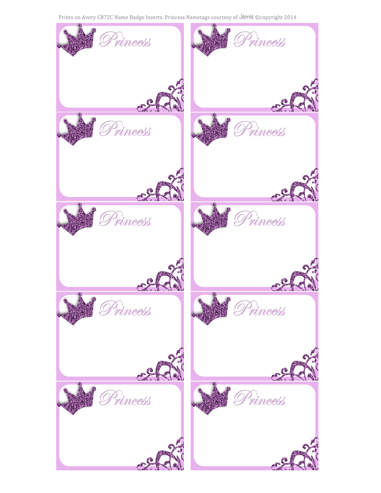 Princess Labels - Free Printable | Kids | Printables, Name Tags - Hello Kitty Name Tags Printable Free