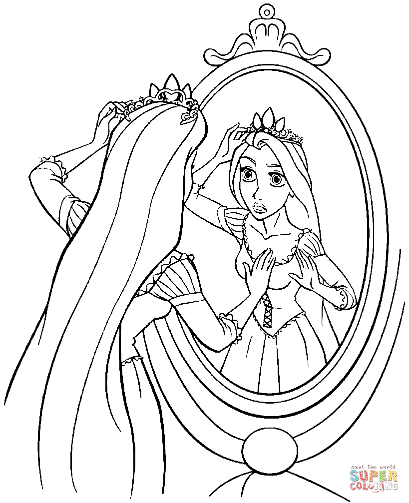 Princess Rapunzel Coloring Page | Free Printable Coloring Pages - Free Printable Tangled