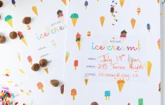 Ice Cream Party Invitations Printable Free