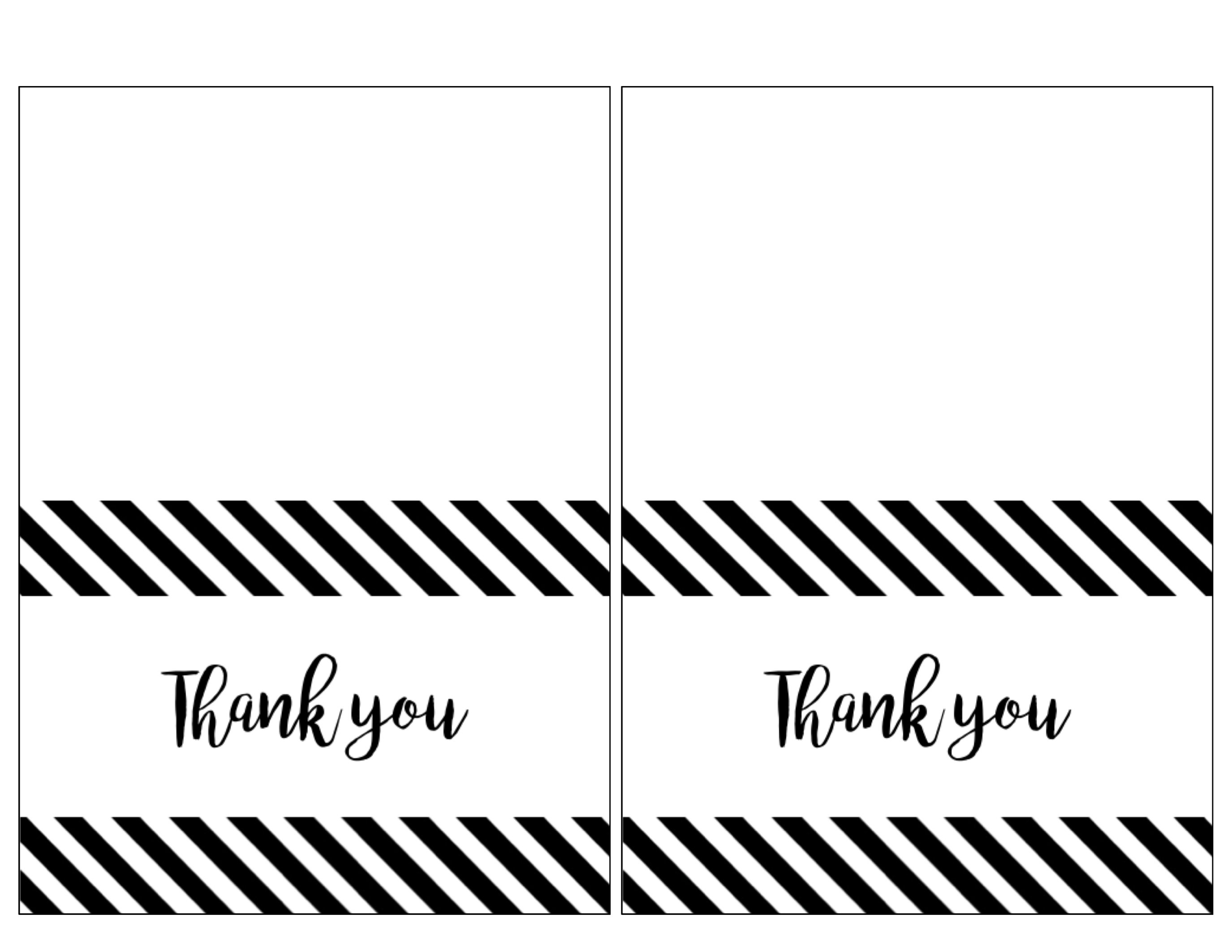Print Thank You Cards | Beautynatura - Free Printable Thank You Cards
