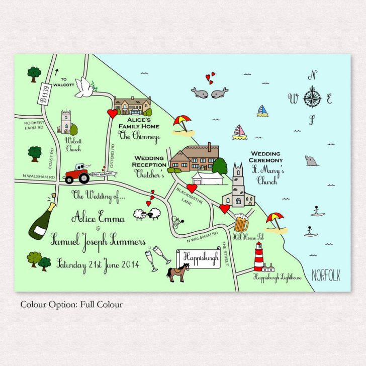 Free Printable Wedding Maps
