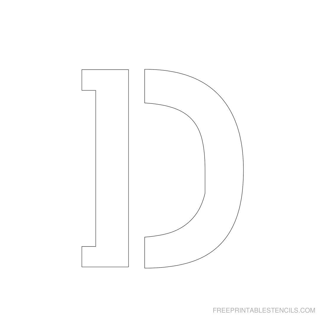 Printable 3 Inch Letter Stencils   Free Printables   Pinterest - Free Printable 3 Inch Number Stencils
