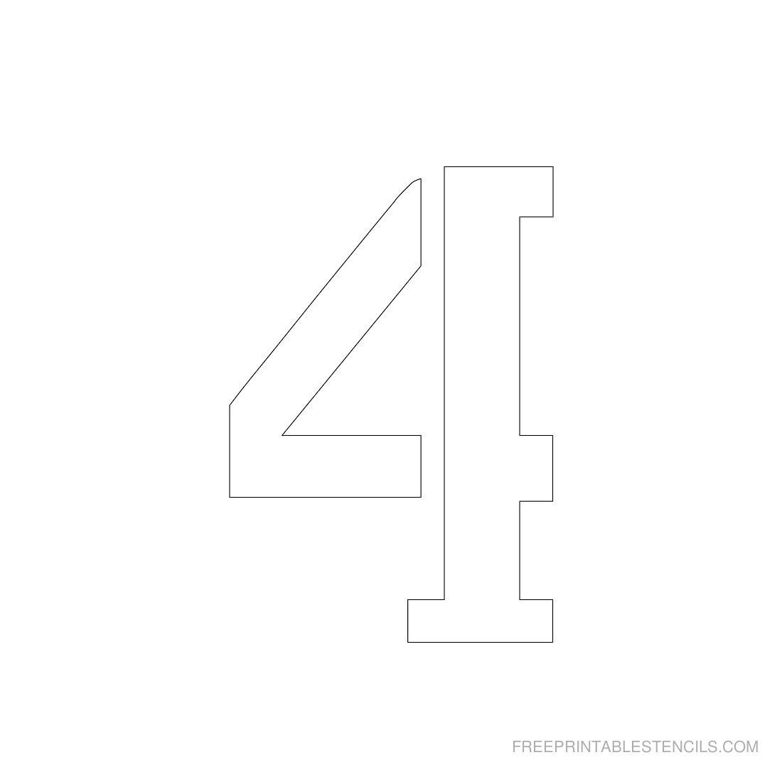 Printable 3 Inch Number Stencils 1-10 | Free Printable Stencils - One Inch Stencils Printable Free