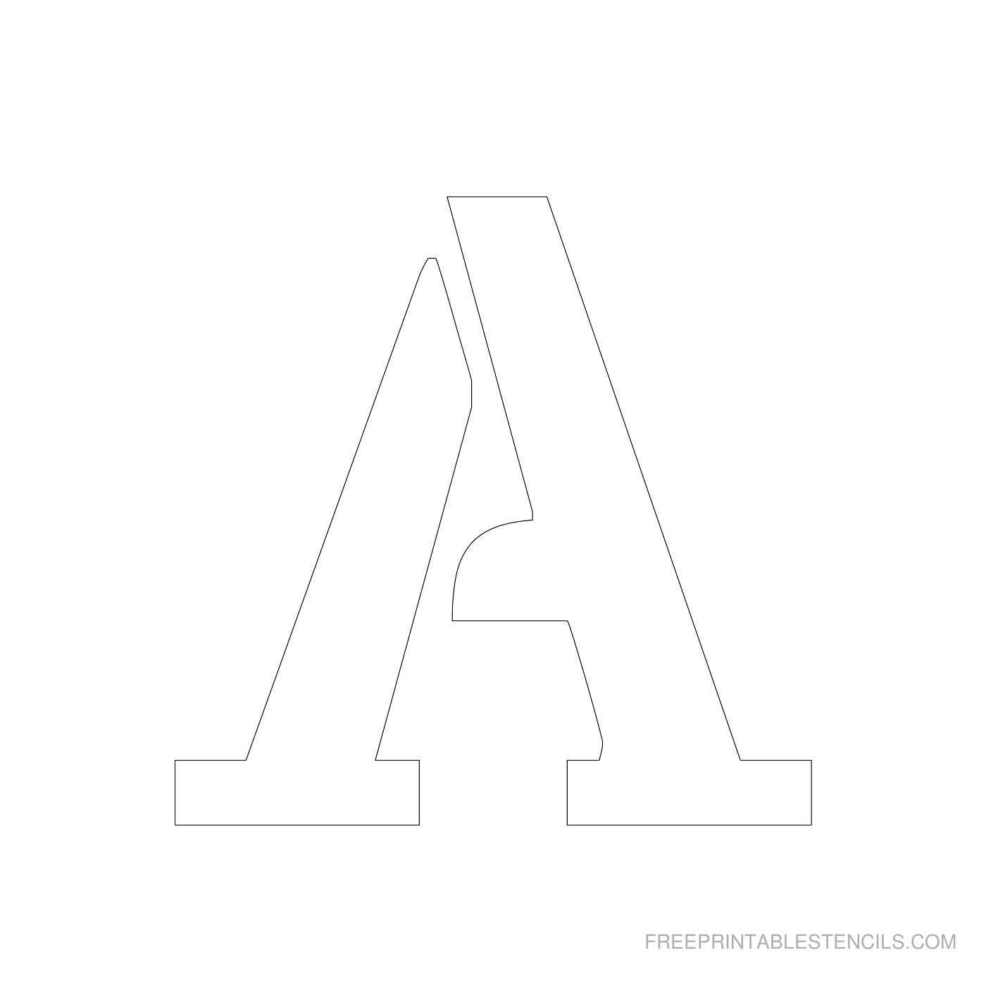 Printable 4 Inch Letter Stencils A-Z | Free Printable Stencils - Free Printable Block Letters