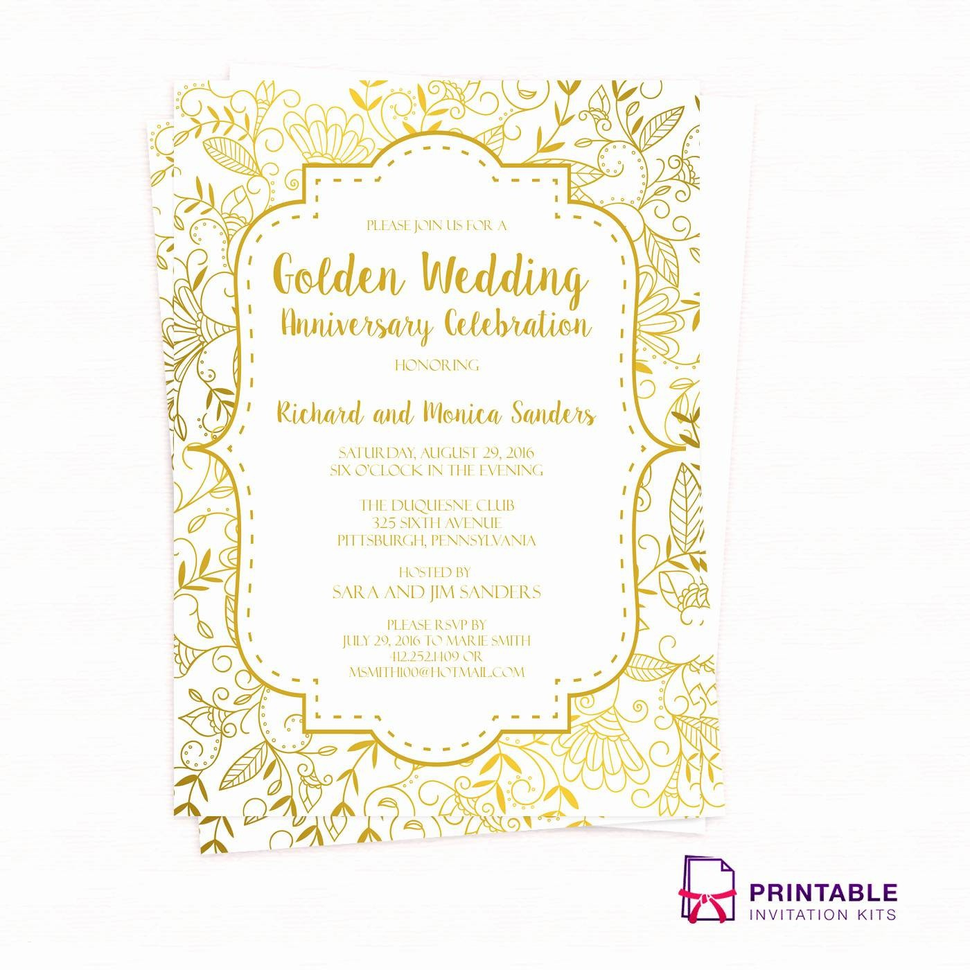 Printable 40Th Anniversary Invitations - Letter.bestkitchenview.co - Free Printable 60Th Wedding Anniversary Invitations