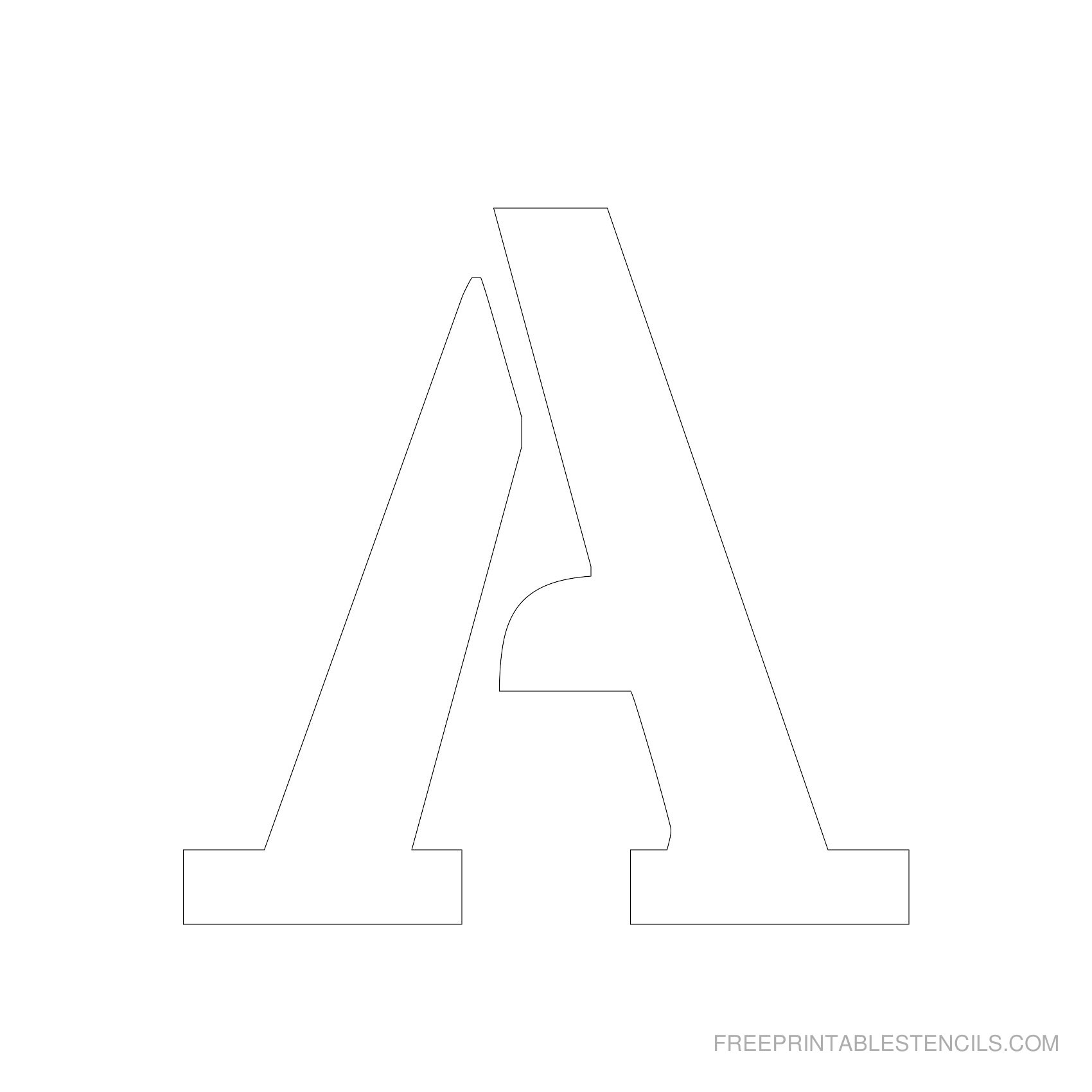 Printable 5 Inch Letter Stencils A-Z | Free Printable Stencils - Free Printable Alphabet Stencils Templates
