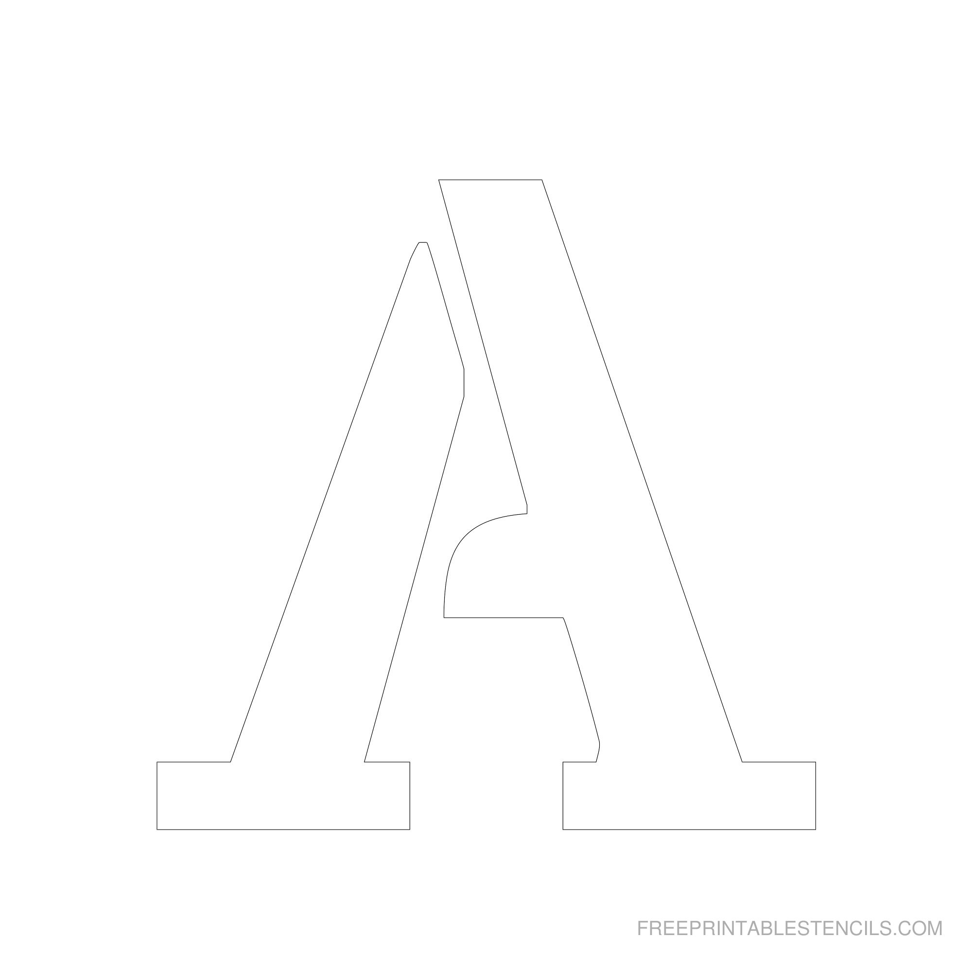 Printable 6 Inch Letter Stencils A-Z | Free Printable Stencils - Free Printable Alphabet Stencils To Cut Out