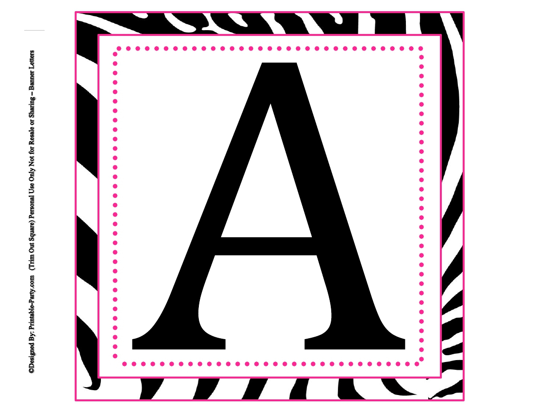 Printable Alphabet Banner | Download Them Or Print - Free Printable Alphabet Letters For Banners