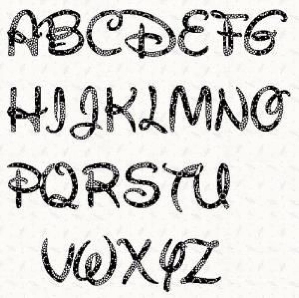 Printable Alphabet Letter Stencil: Walt Disney Alphabet Template In - Free Printable Disney Font Stencils