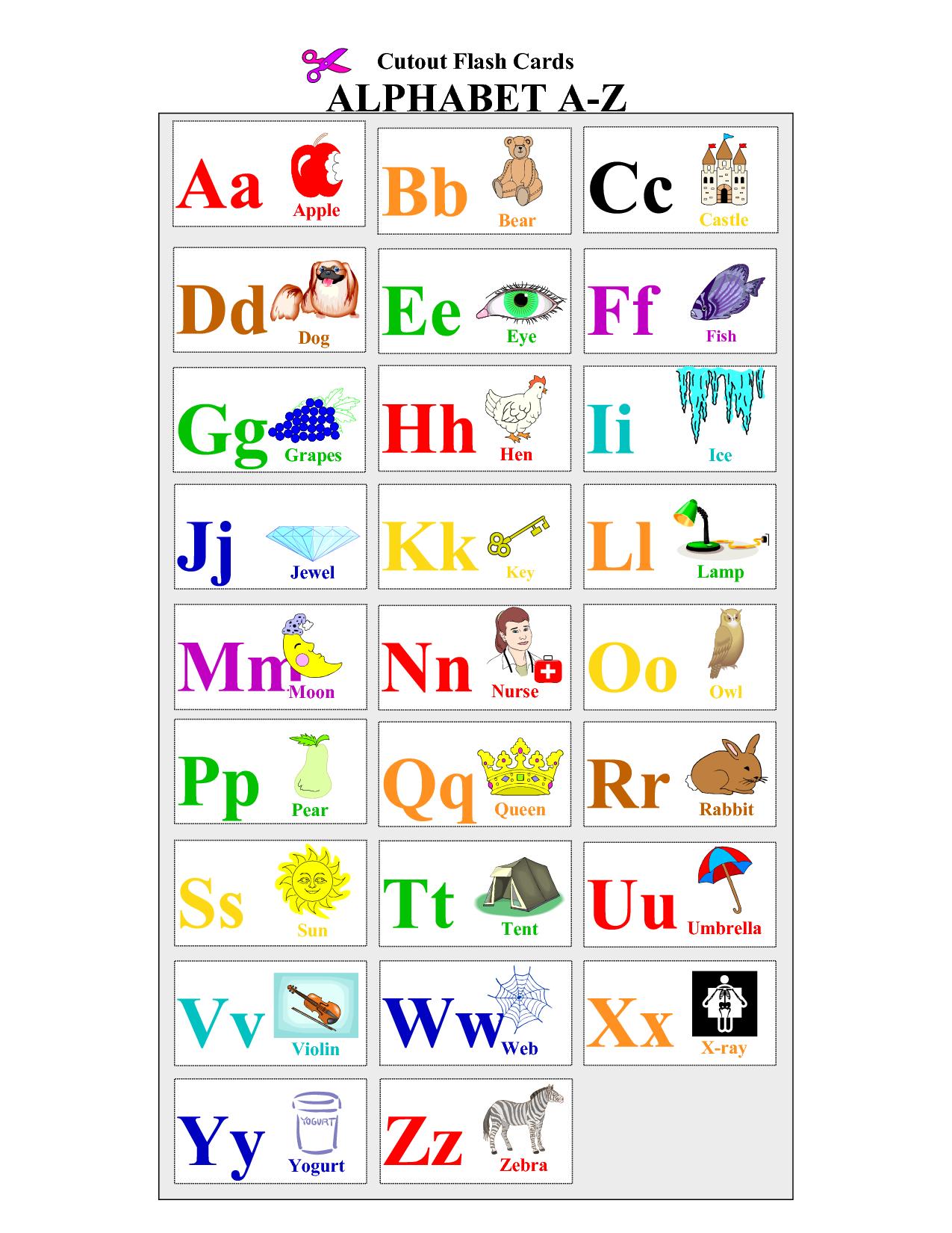 Printable Alphabet Letters Flash Cards | Pre-K Lesson Plans - Free Printable Alphabet Flash Cards