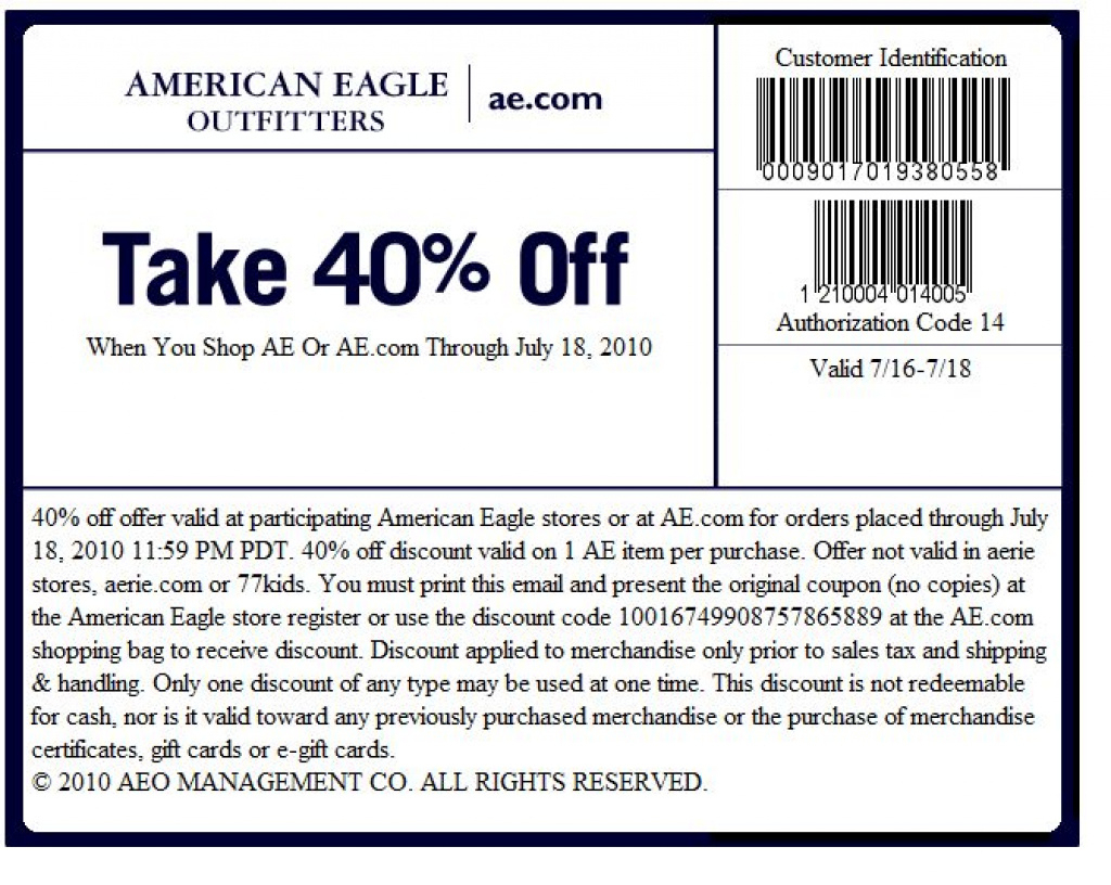 Printable And Mobile American | Printable Coupons Online Regarding - Free Printable American Eagle Coupons