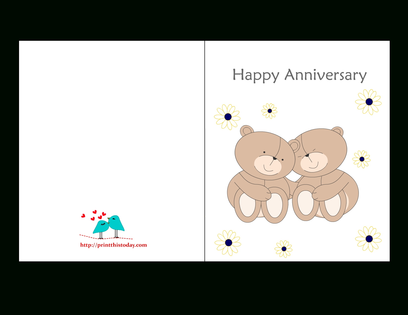 Printable Anniversary Cards For Free | Bestprintable231118 - Free Printable Anniversary Cards