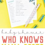 Printable Baby Shower Game: Who Knows Mommy Best? | Printables   Free Printable Baby Shower Games Who Knows Mommy The Best