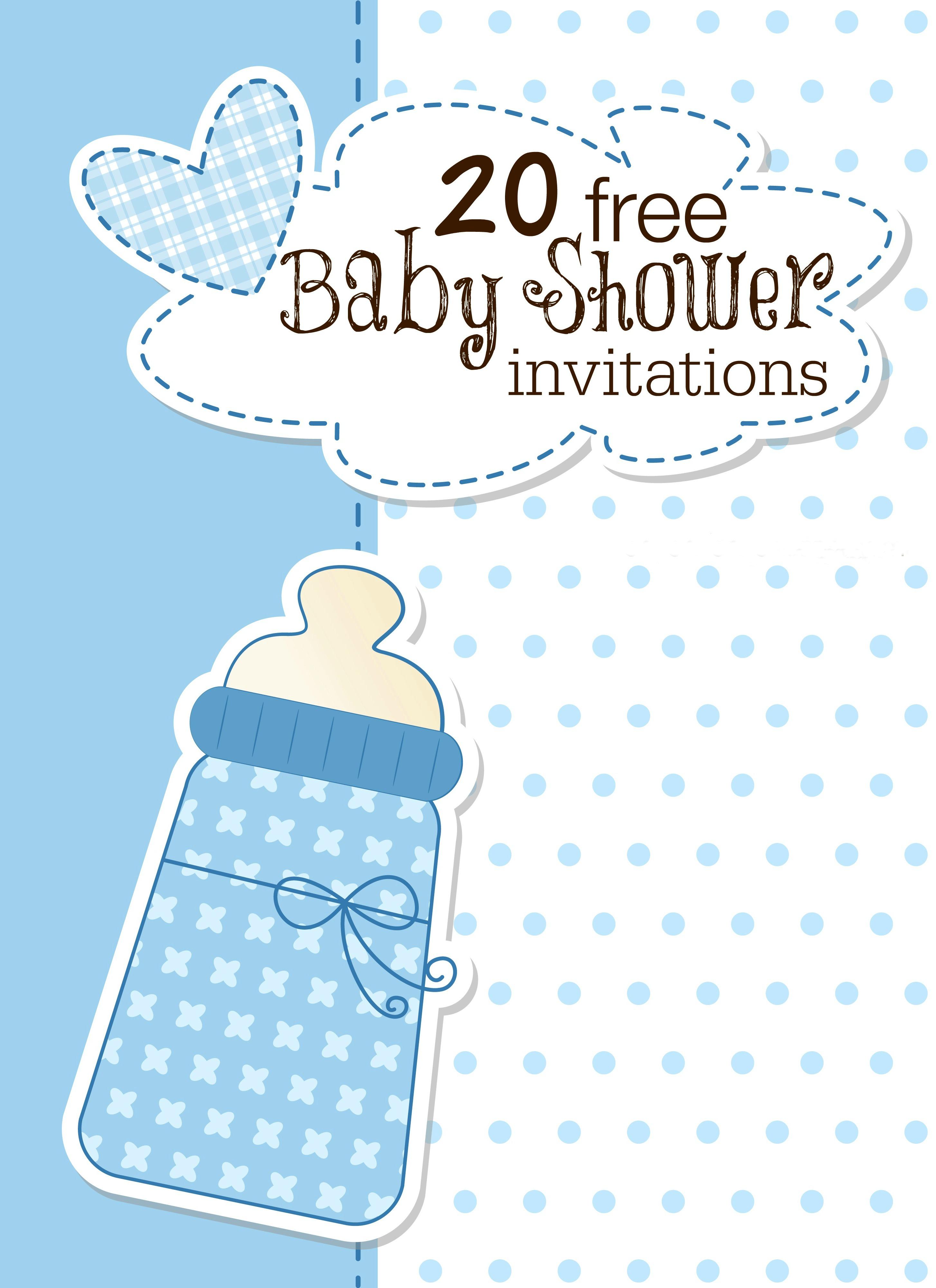 Printable Baby Shower Invitations - Free Printable Baby Shower Invitations Templates For Boys