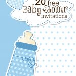 Printable Baby Shower Invitations   Free Printable Zebra Baby Shower Invitations