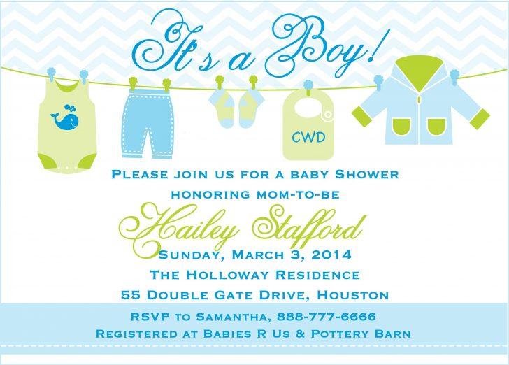 Free Baby Boy Shower Invitations Printable