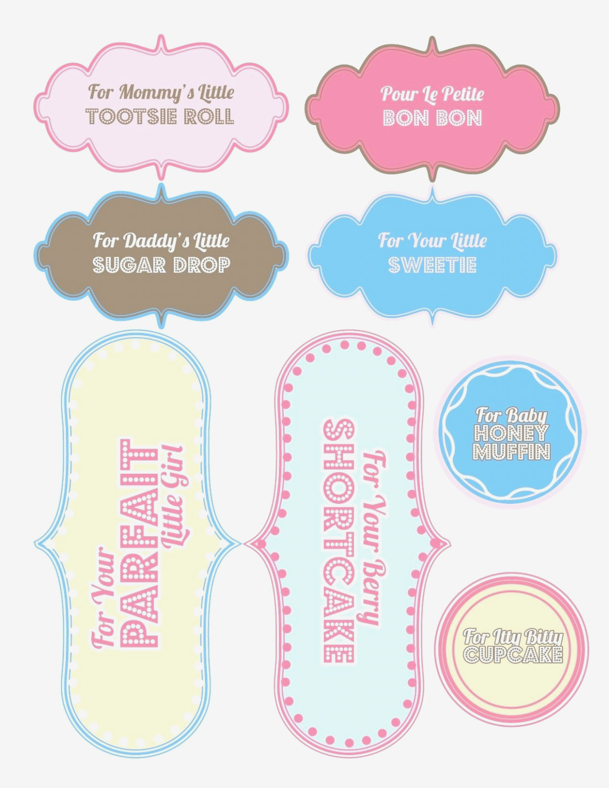 Printable Baby Shower Labels Pensamientos Para Baby Shower – Free - Free Printable Baby Shower Labels And Tags