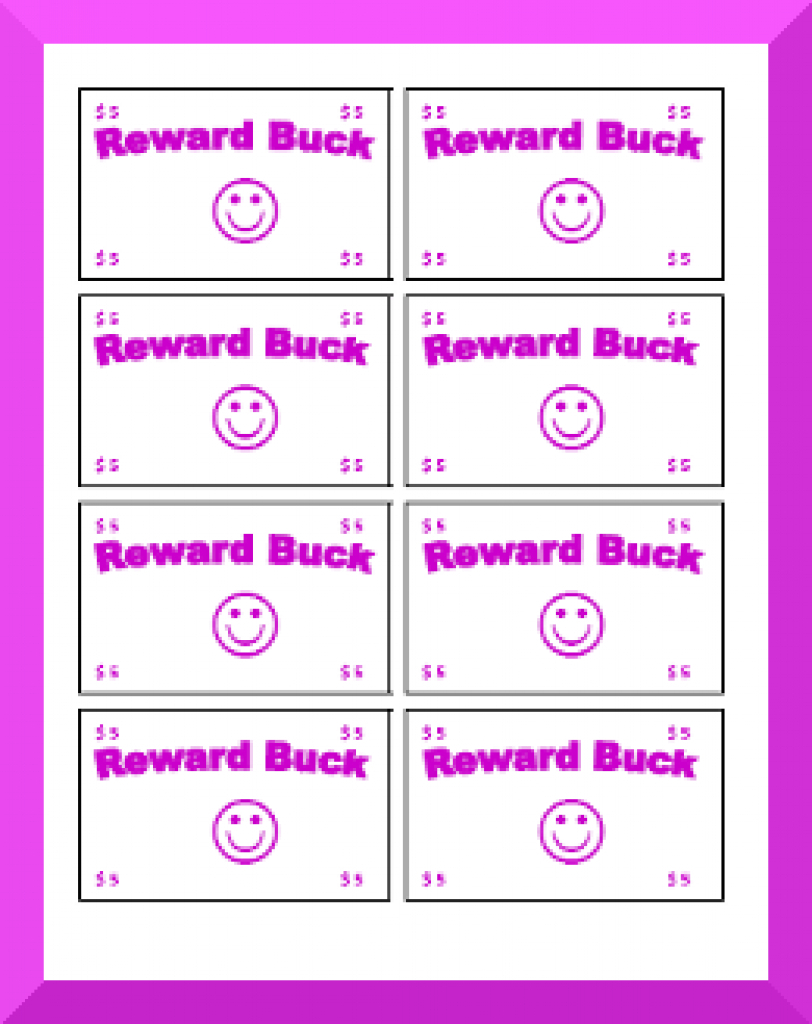 Printable Behavior Bucks, Reward Bucks Pertaining To Free Printable - Free Printable Chore Bucks