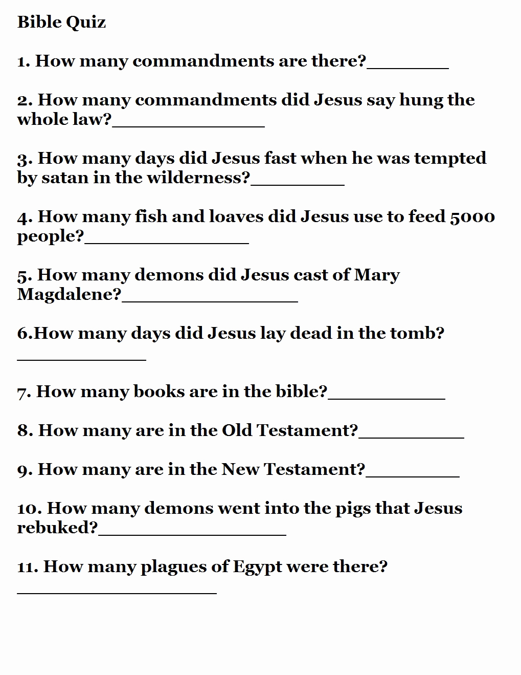 Printable Bible Trivia – Rtrs.online - Free Printable Bible Trivia For Adults