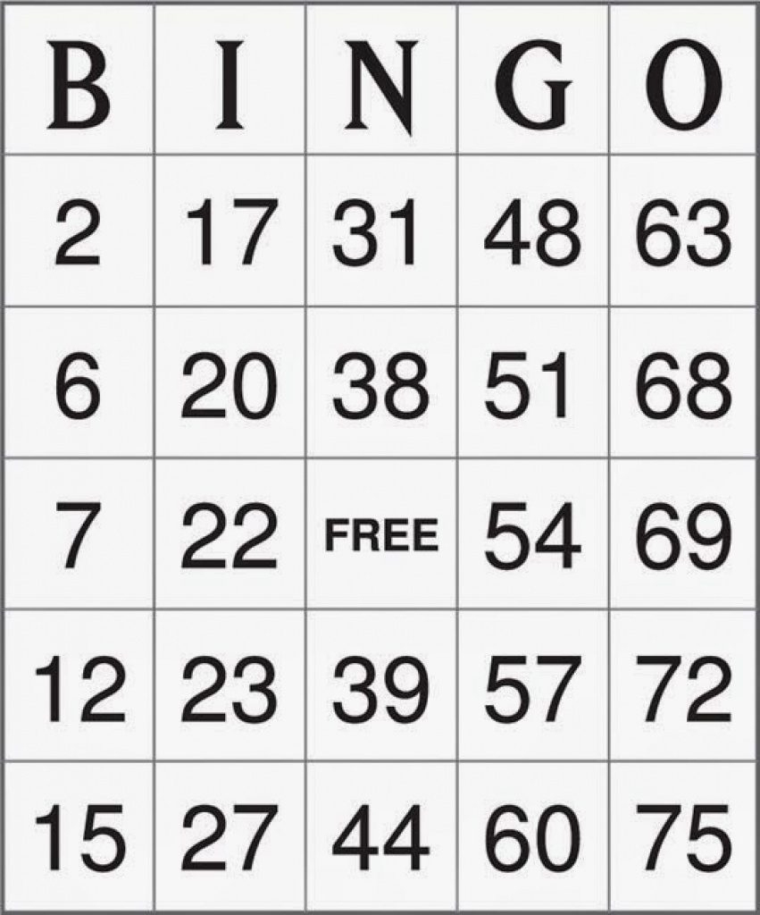 Printable Bingo Cards 1-75 - Vsmetalsgroup Within Free Printable - Free Printable Bingo Cards 1 75