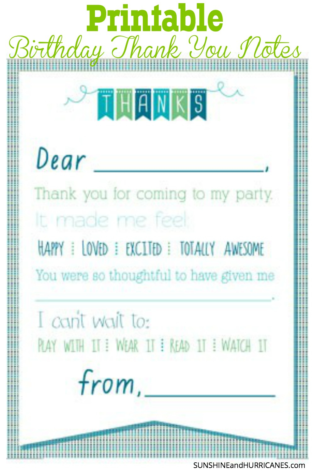 Printable Birthday Thank You Notes - Free Printable Soccer Thank You Cards