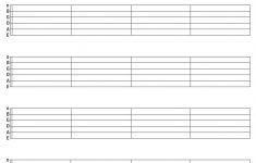 Printable Blank Guitar Tab Sheets | Music In 2019 | Pinterest – Free Printable Blank Sheet Music