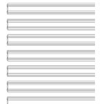 Printable Blank Piano Sheet Music Paper | Print In 2019 | Pinterest   Free Printable Staff Paper