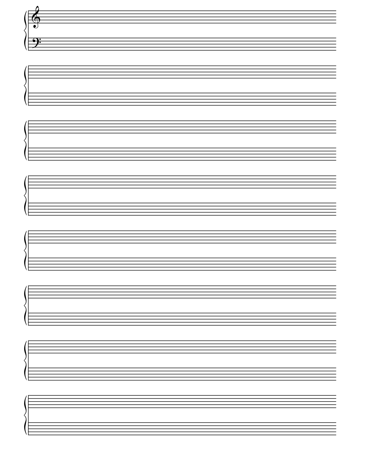 Printable Blank Piano Sheet Music Paper | Print In 2019 | Pinterest - Free Printable Staff Paper Blank Sheet Music Net
